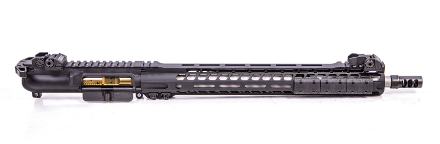 Upper for ar rifle 16 on white background