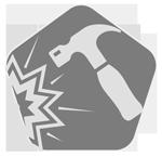 badge representing AR Rifle durable metal