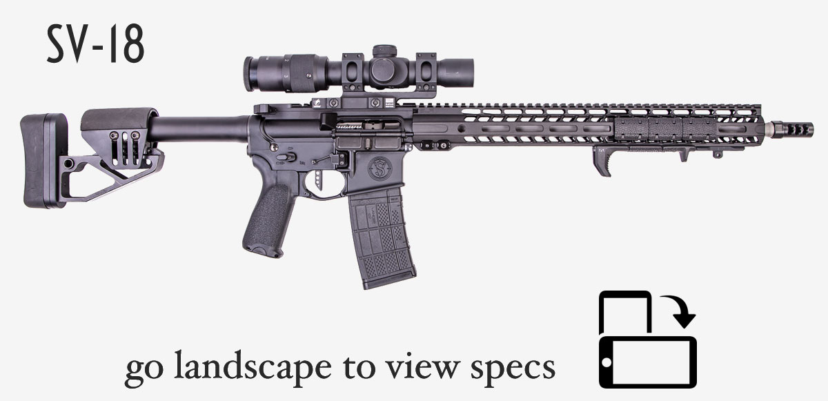 sv-18 ar rifle showing icon to turn image landscape