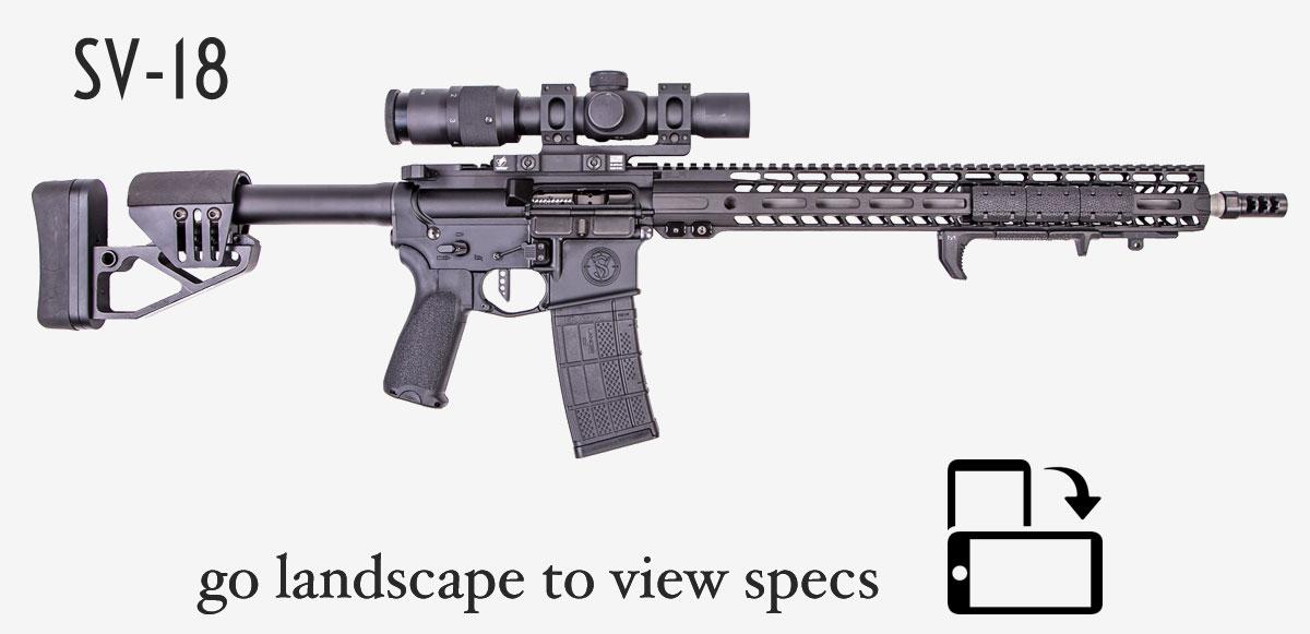 sv-18 ar rifle showing icon to turn image landscape